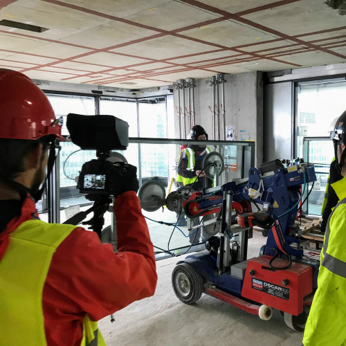 Image: A day at the Wardian London construction project
