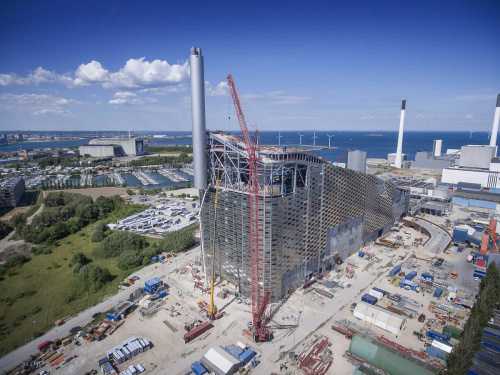 Skiing on waste-to-energy plant at Amager Bakke - 1